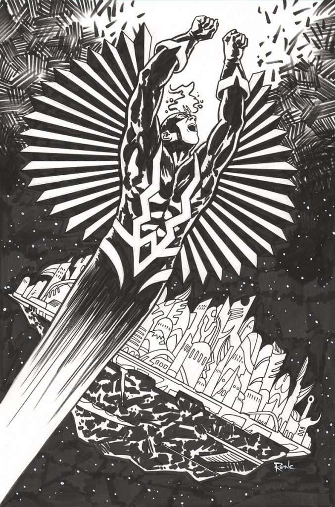 comic art commission Black Bolt