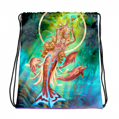 Charis fantasy art drawstring bag_