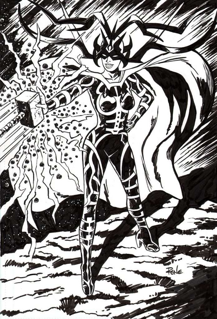 comic art commission Hela