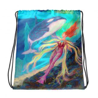 Eislyn fantasy art drawstring bag front