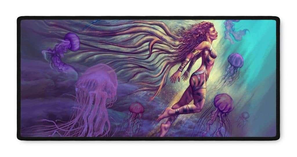 Elandra fantasy art gamer mousepad 16x35